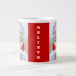 """Laughing Buddha """"Believe"""" Mug 20 Oz Large Ceramic Coffee Mug"""