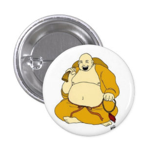 laughing buddha buttons