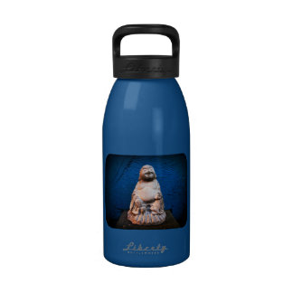 Laughing Buddha Cement Statue Reusable Water Bottles