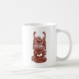 Laughing Buddha (dark red) Coffee Mug
