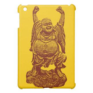 Laughing Buddha dark red iPad Mini Cover