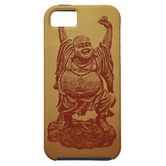 Laughing Buddha (dark red) iPhone 5 Cases