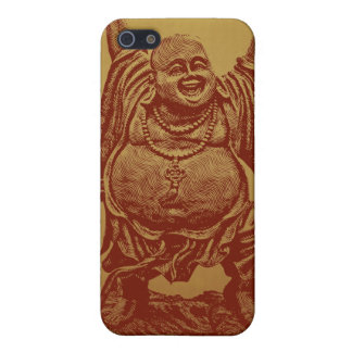Laughing Buddha (dark red) iPhone SE/5/5s Cover