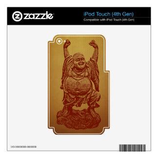 Laughing Buddha (dark red) iPod Touch 4G Skins