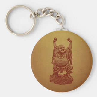 Laughing Buddha (dark red) Keychain