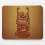 Laughing Buddha (dark red) Mouse Pad