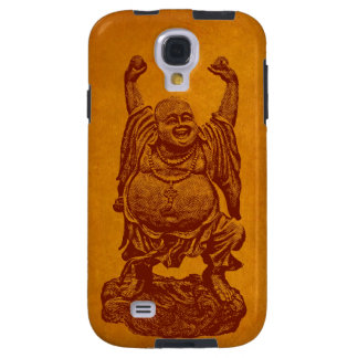 Laughing Buddha (dark red on gold foil) Galaxy S4 Case