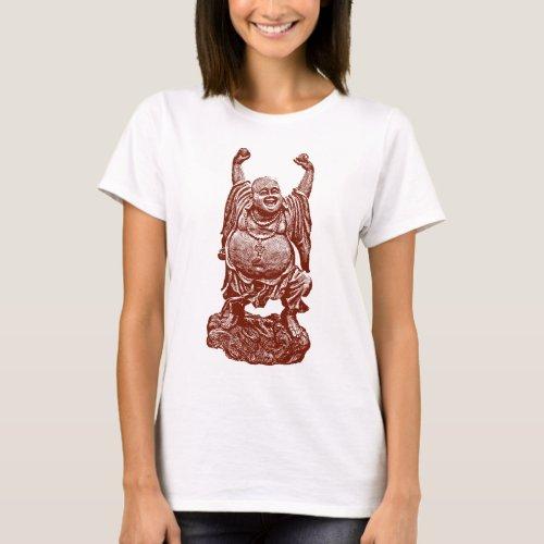 Laughing Buddha dark red T_Shirt