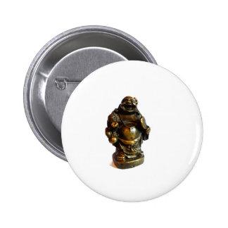 Laughing Buddha Pinback Button