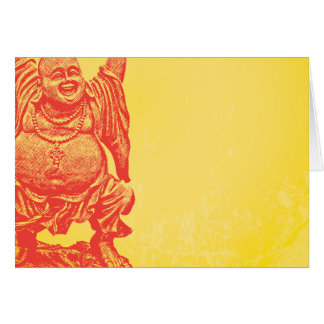 Laughing Buddha (red) Card