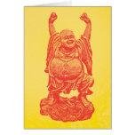 Laughing Buddha (red) Card