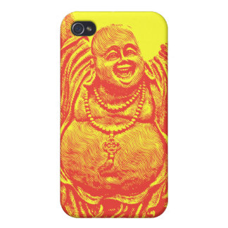 Laughing Buddha (red, detail) iPhone 4 Cases