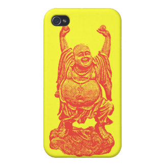 Laughing Buddha (red) iPhone 4 Cases