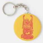 Laughing Buddha (red) Keychain