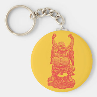 Laughing Buddha (red) Keychain