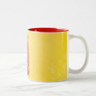 Laughing Buddha (red) Coffee Mugs