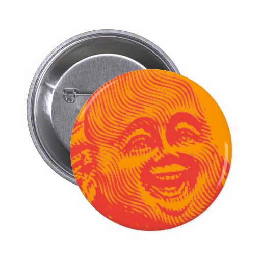 Laughing Buddha (red) Pinback Buttons