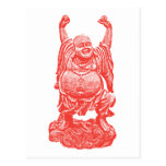Laughing Buddha (red) Post Cards