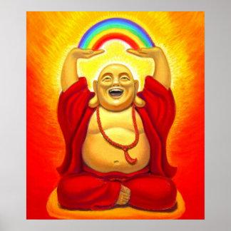 Laughing Buddha Spiritual Art Poster