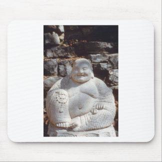 Laughing Buddha Statue Mousepads