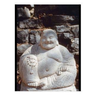 Laughing Buddha Statue Postcard