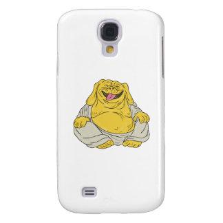 Laughing Bulldog Buddha Sitting Cartoon Samsung Galaxy S4 Cover