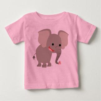 Laughing Cartoon Elephant  Baby T-shirt