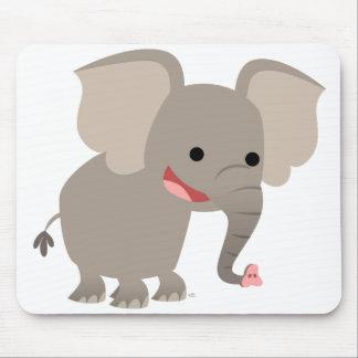 Laughing Cartoon Elephant  Mousepad