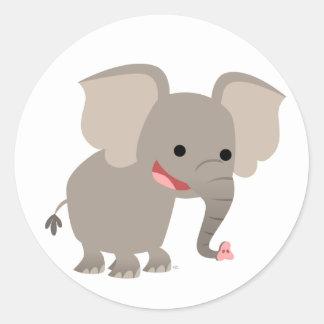 Laughing Cartoon Elephant  Sticker