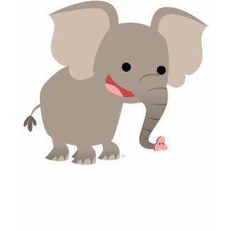 Laughing Cartoon Elephant Women T-shirt shirt