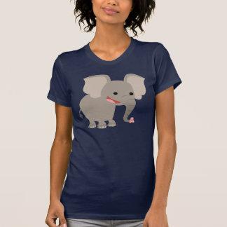Laughing Cartoon Elephant  Women T-shirt