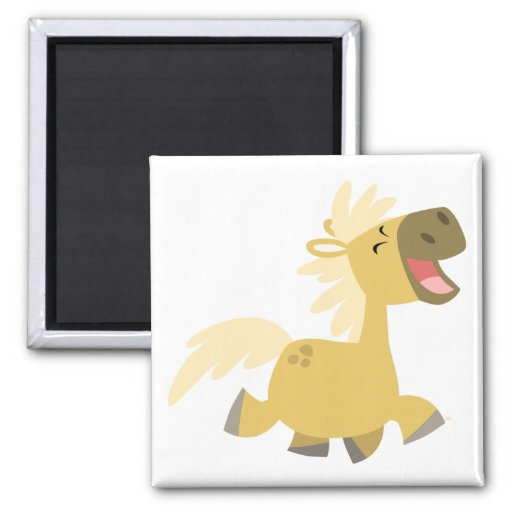 Laughing Cartoon Pony magnet