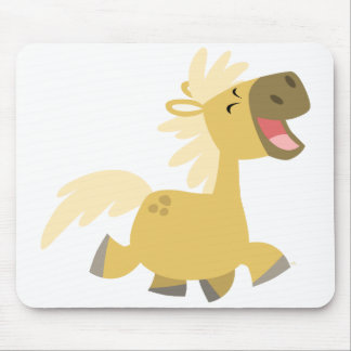 Laughing Cartoon Pony mousepad