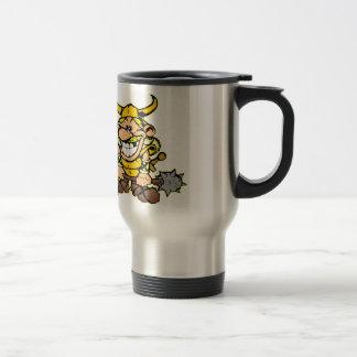 Laughing Cartoon Viking Travel Mug