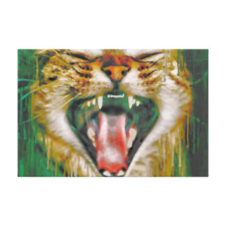 Laughing Cat Canvas Print