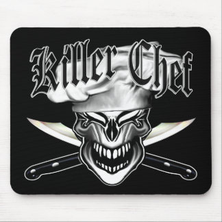 Laughing Chef Skull 10 Mouse Pad