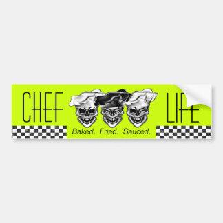 Laughing Chef Skulls Car Bumper Sticker