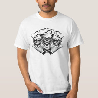 Laughing Chef Skulls Tee Shirt
