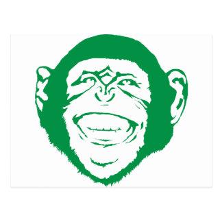 Laughing Chimp Postcard