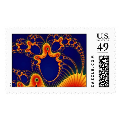 Laughing Clown Mask ~ Abstract Art Print Postage