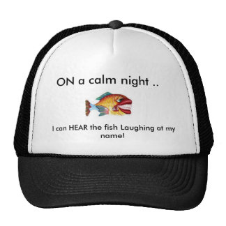 laughing color fish, trucker hat