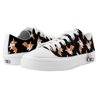 Laughing Corgi Cartoon Low-Top Sneakers