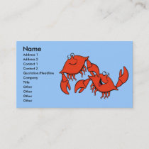 Laughing Crabs, Business Card