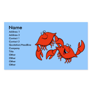 Laughing Crabs, Double-Sided Standard Business Cards (Pack Of 100)