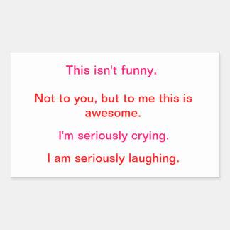 Laughing/Crying Rectangular Sticker