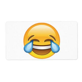 Laughing Crying Tears of Joy emoji Label