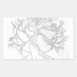 Laughing, Dancing Tree Rectangular Stickers