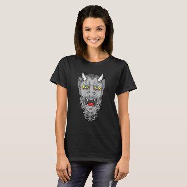 Halloween Themed Laughing Devil Illustration T-Shirt