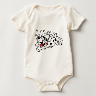 Laughing Dog Baby Bodysuit