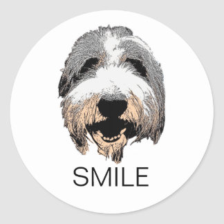 Laughing Dog Smile Stickers